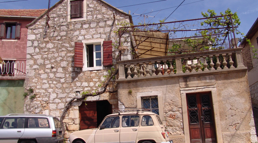 Traditional stone house in a village on Hvar