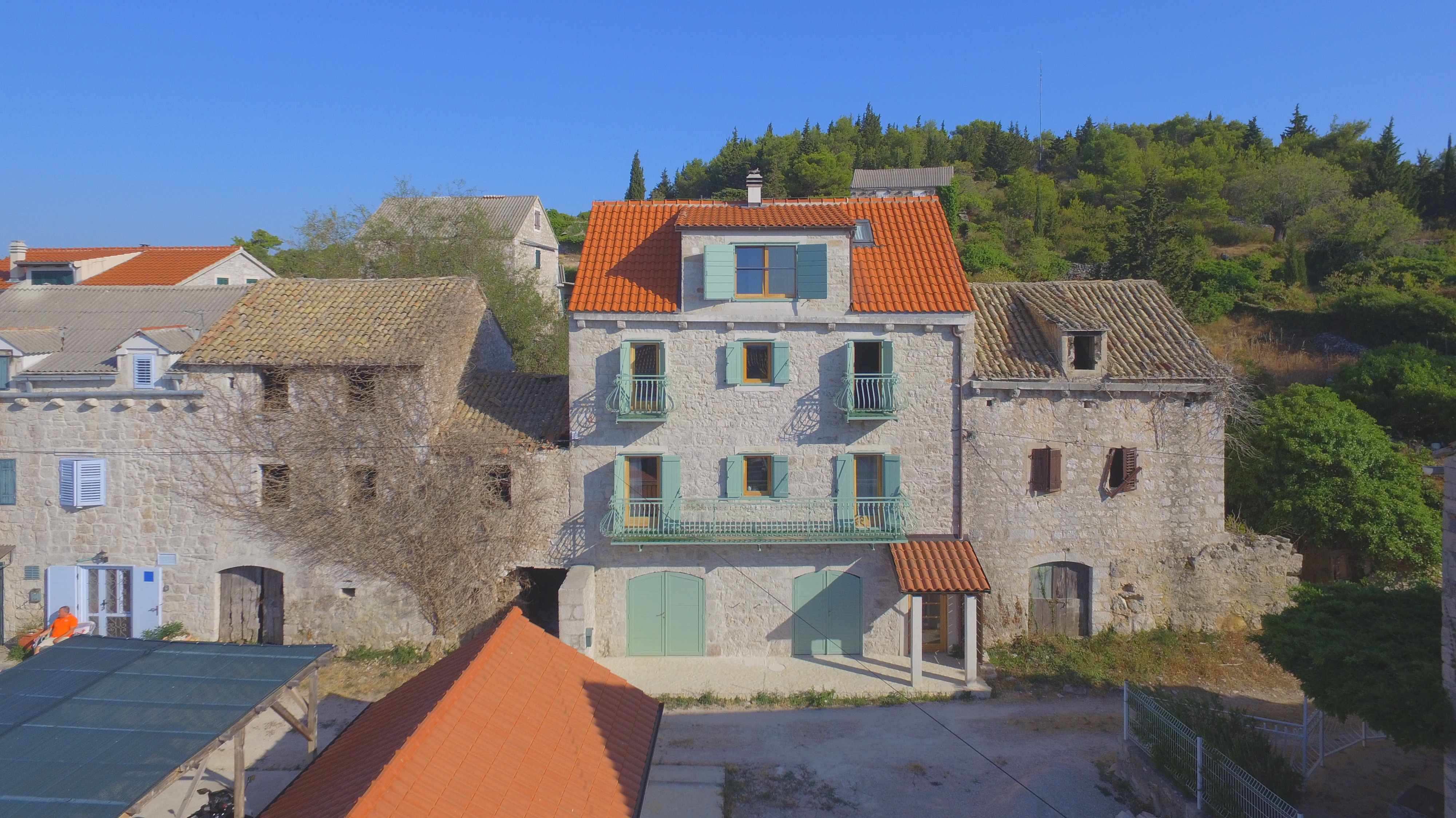 Renovated stone house for sale Hvar Island with panoramic sea views