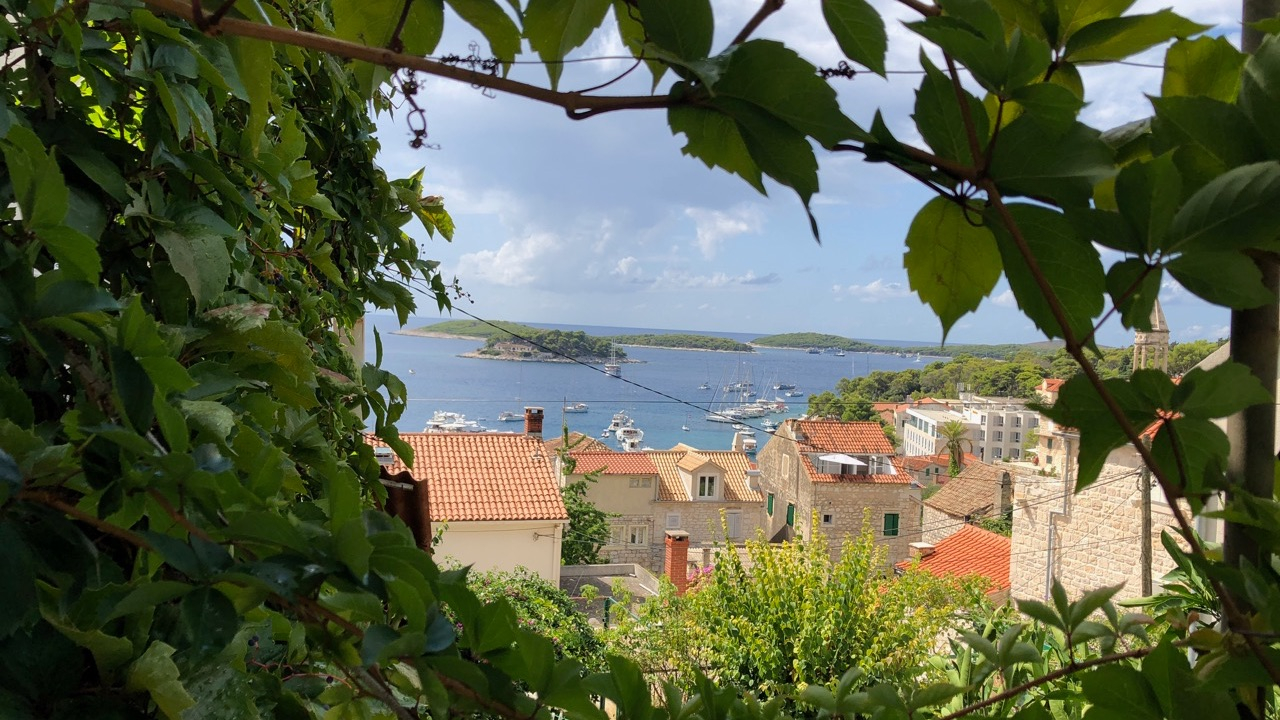 A wonderful piece of real estate for sale in Hvar town with sea views