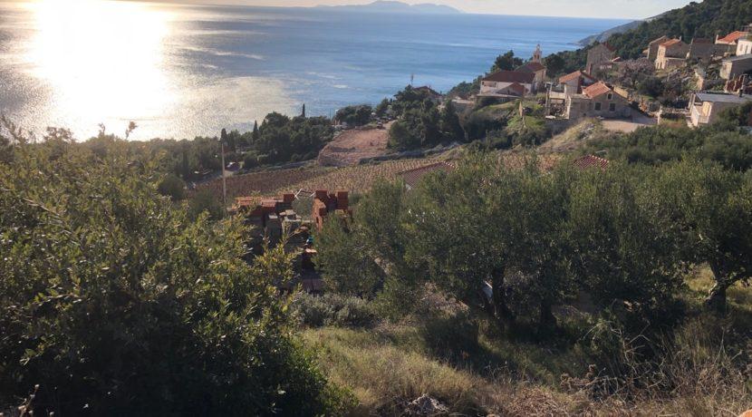 building land on South side of Hvar Island