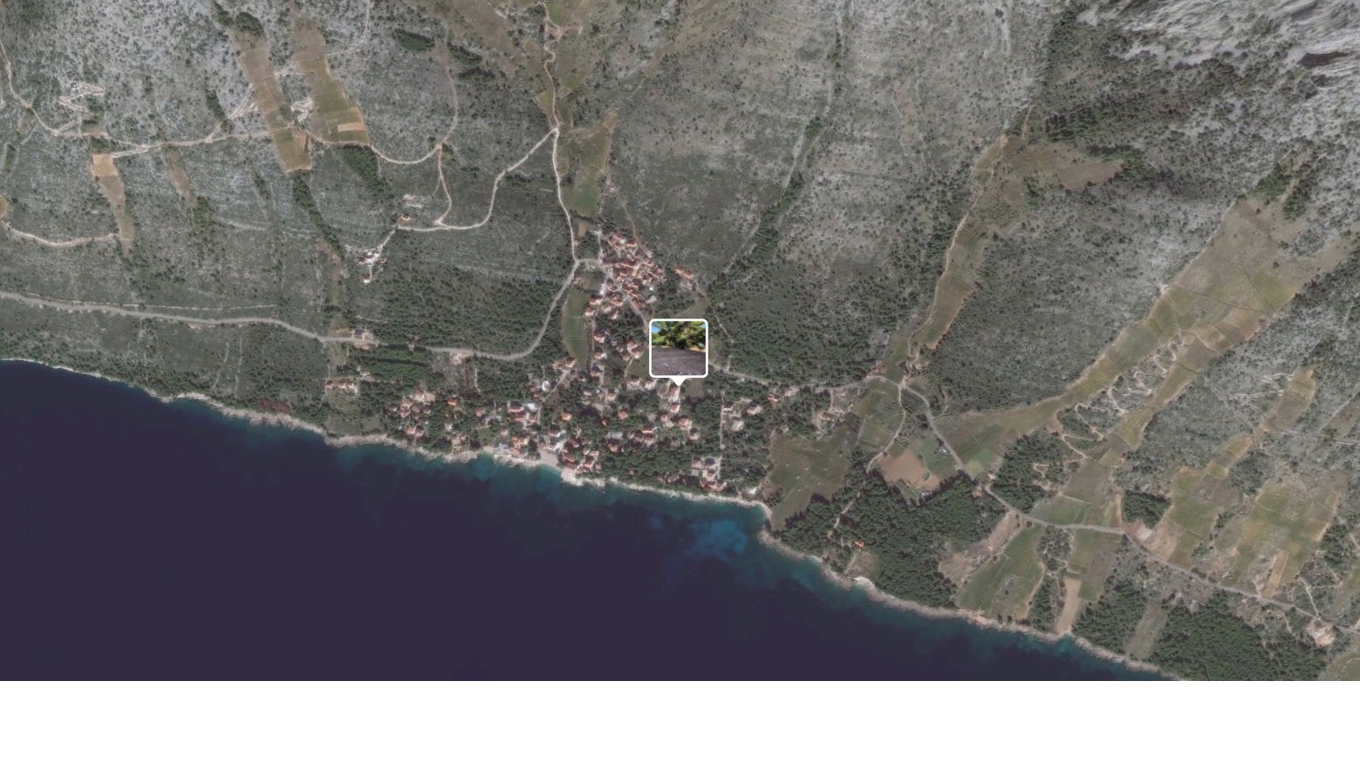 A large building plot on Hvar Island situated on the south side