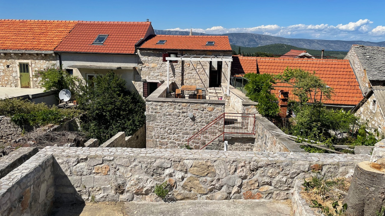 Beautiful renovated stone house on Hvar Island with terraced garden