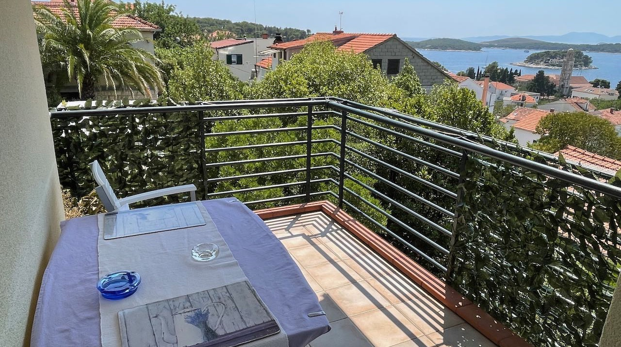 A quality two bedroom apartment in Hvar town Croatia with prime sea views